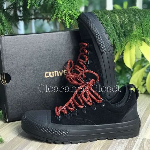 66c4a043c79e NWT Converse Ctas Descent OX Black WMNS AUTHENTIC